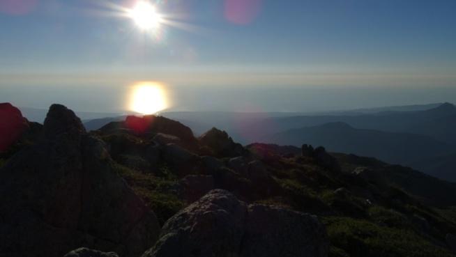 Gr20 sud, Lever de soleil