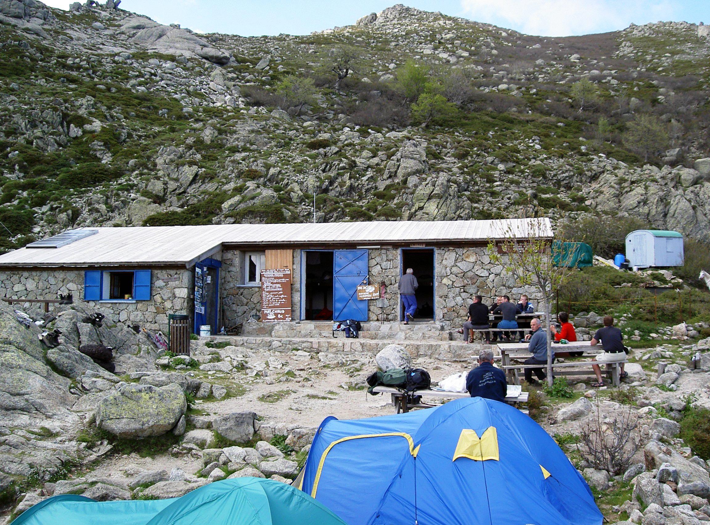 Le refuge d'Usciolu sur le gr20 sud