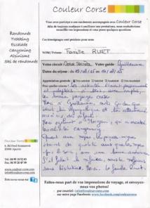 la Corse secrète -du 16 au 22 Août 2015